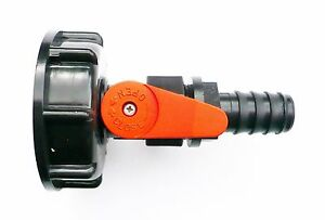 IBC-ADAPTER-S60X6-to-PP-BALL-VALVE-amp-3-4-034-Barbed-Hose-Tail