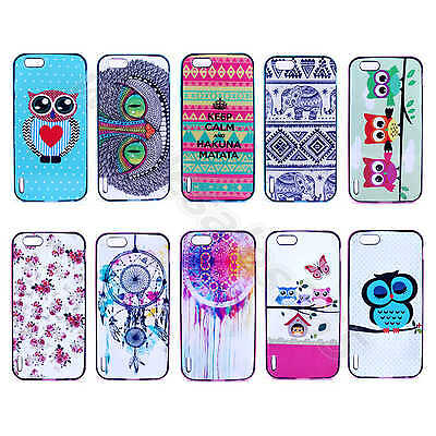 For Multi Cellphones Owl Dream Catcher Case Silicone Rubber Plastic 2 in 1 Cover