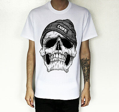 Mens / Womens Cotton DOPE SKULL T-SHIRT Hype Hipster Swag Urban Fashion Tee Top