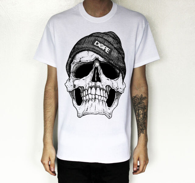 Hommes / Femmes Coton DOPE CRÂNE T-SHIRT Hype Hipster Swag Urbain Tendance Top