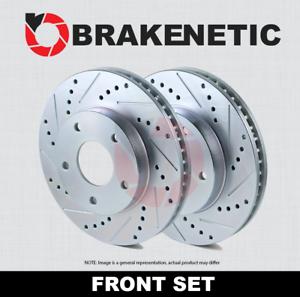FRONT SET BRAKENETIC SPORT Drilled Slotted Brake Disc Rotors BNS44116.DS