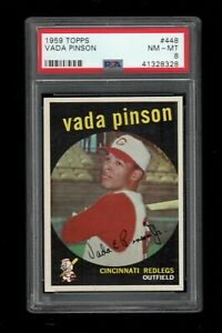 1959-Topps-BB-Card-448-Vada-Pinson-Cincinnati-Redlegs-PSA-NM-MT-8