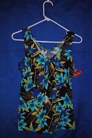 Women's MERONA Multi Color Floral Sleeveless Knit Top Size XS NWT
