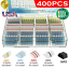 thumbnail 1 - 400PCS Waterproof Solder Seal Heat Shrink Wire Butt Terminal Connectors Kit Set