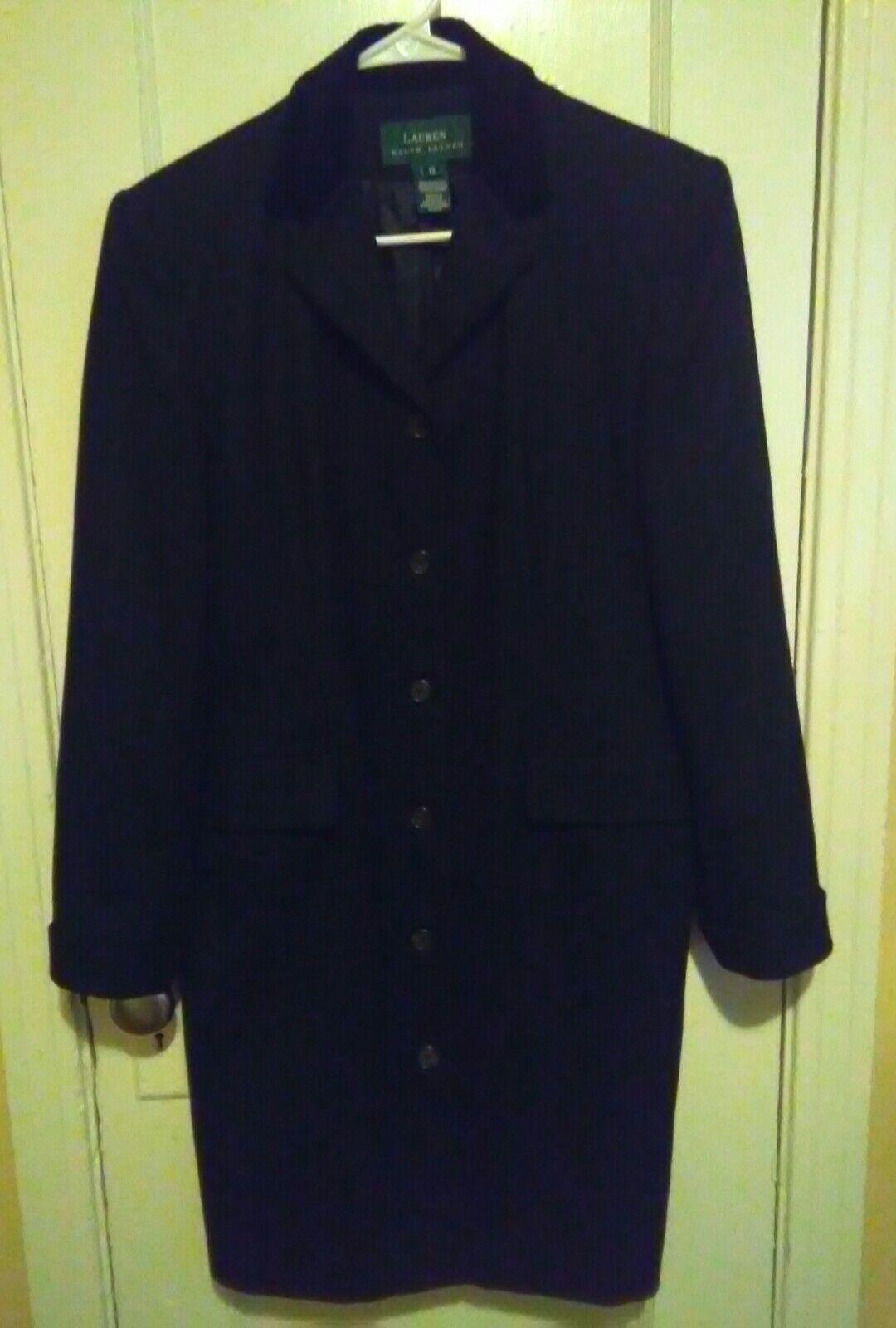Lauren ralph lauren women wool coat sz 12