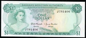 BAHAMAS-1-DOLLAR-1968-P-27-UNC-N-078