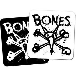 Vato Stacked Skateboard Aufkleber 4in Si Weiß Auf Schwarz Powell Bones