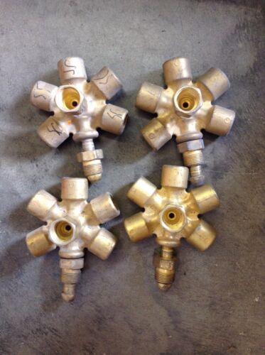 4 Western Enterprises Brass Manifold Block Assembly MB-70 CGA-580 Argon Etc