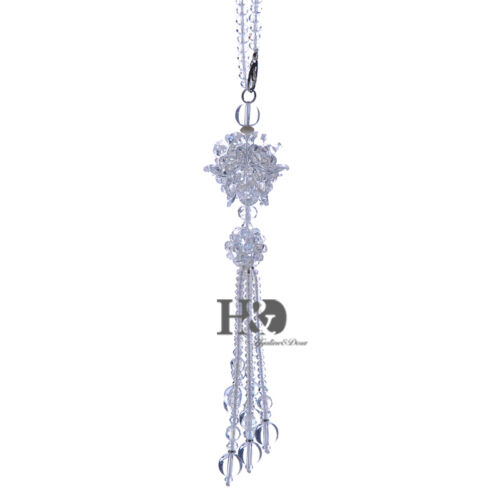 White Hanging Suncatcher Cut Crystal Ruyi Ball Prisms Rainbow Feng Shui Pendants