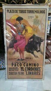 Anos-70-Cartel-Plaza-De-Toros-Torremolinos-Paco-Camino-El-Cordobes-Linares
