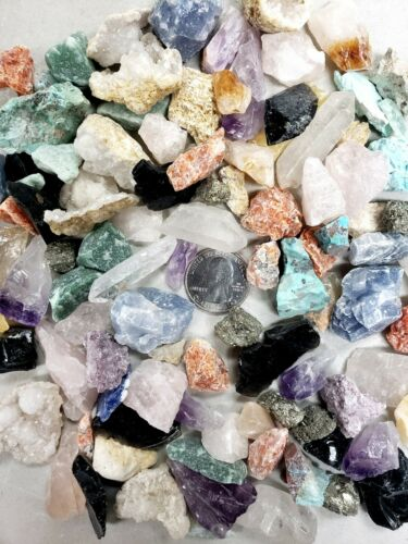 Rough Rocks Collection Raw Crystal Small Chips Assorted Crystals Bulk
