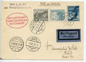 GRAF-ZEPPELIN-1930-AUSTRIA-Kassel-Flight-Breslau-Vienna