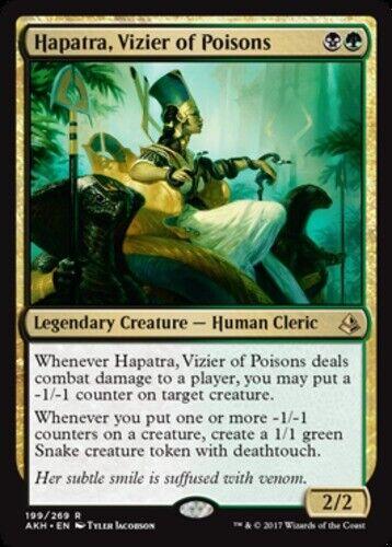 Vizier of Poisons Foil x1 Magic the Gathering 1x Amonkhet mtg card Hapatra