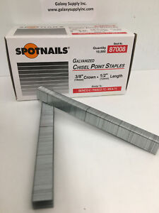 Spotnail 87008 71 Upholstery Staples 3 8 Crown 1 2 Leg Sale By 12