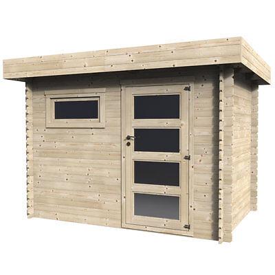 Casetta in legno in doghe da design rettangolare 298x198 cm assi da 28 mm