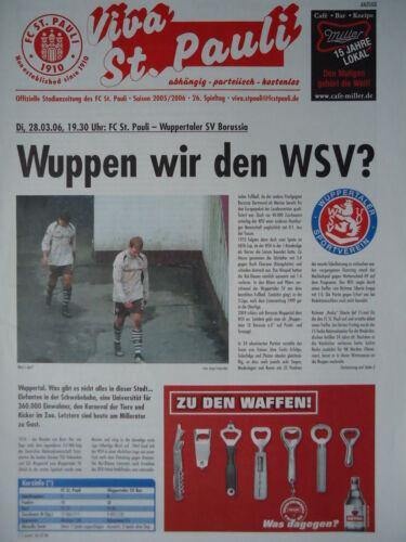 Wuppertaler SV Programm 2005//06 FC St Pauli