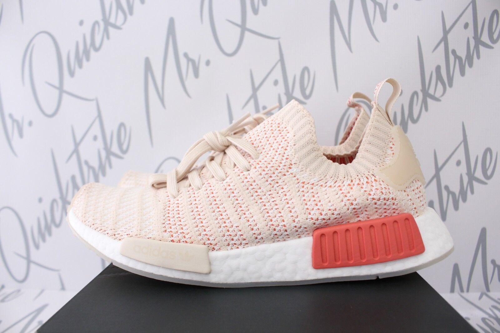 Donne Adidas Originali 10 Nmd R1 Stlt Sz 10 Originali Biancheria Beige Tan Cristallo a13558