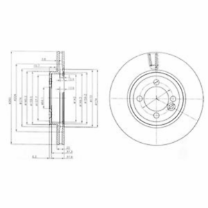 Bremsscheibe 2 Stück Delphi BG4146C