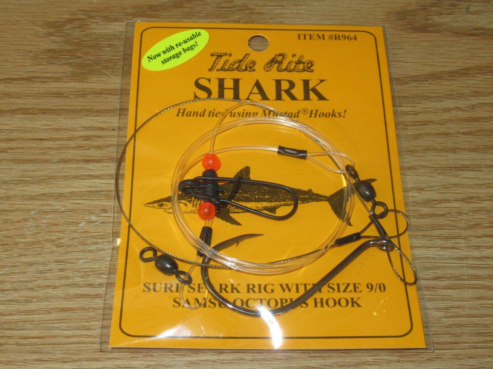 24 SHARK TIDE RITE R964 SURF SHARK OCTOPUS RIGS SALTWATER FISH RIG MUSTAD HOOKS