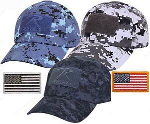 Mens Digital Camouflage Tactical Cap   USA Flag Patch - Rothco Camo ... 328043311e0