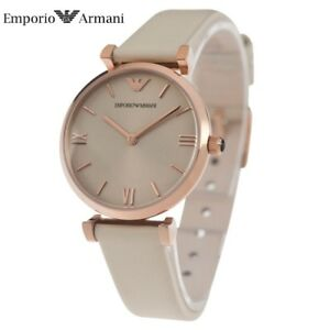 b5cf4341 Details about EMPORIO ARMANI AR1769 LADIES ROSE GOLD GIANNI T-BAR WATCH