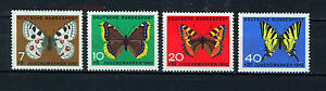 ALEMANIA-RFA-WEST-GERMANY-1962-MNH-SC-B380-B383-Butterflies