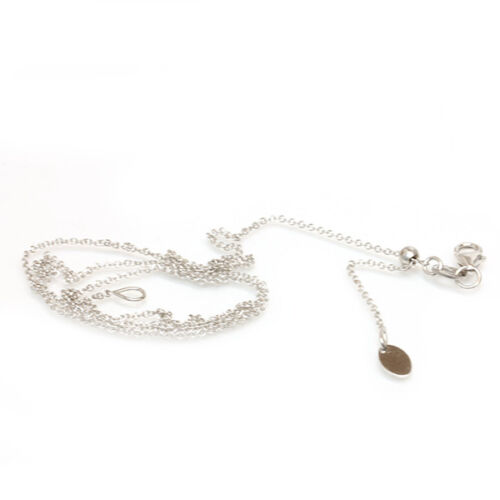 """16/"""",18/"""" 20/"""" Easy slide and adjust 14kt White Gold ADJUSTABLE Chain 14/"""" Italy"""
