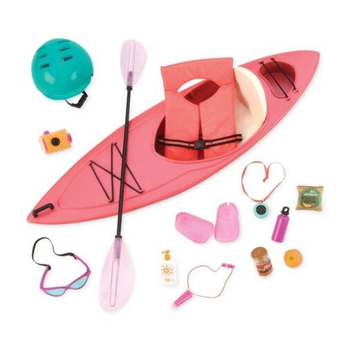 "New Our Generation 18"" Doll Kayak and Accessories Fits American Girl Lea FAST!"