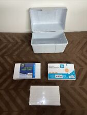 Index Card Holder Recipe Box Blue With 300 3x5 Inch Cards