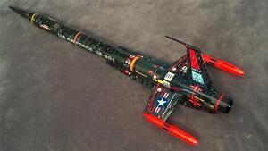 Accur8-Black-034-Twilight-Chameleon-Skin-034-Kit-For-Estes-Interceptor-E-Model-Rocket