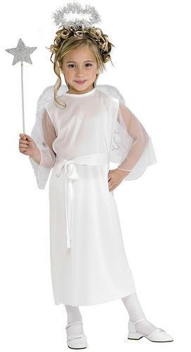 Wings  Girls Fancy Dress Xmas Christmas Kids Childs Costume New Nativity Angel