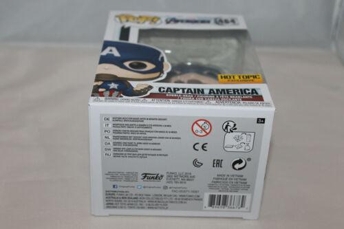 Vinyl Figure Funko Pop Marvel #464 Hot Topic Exclusive Captain America