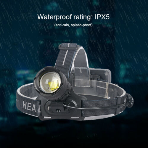 Super Bright LED Headlight Zoomable Headlamp Head Torch Outdoor Hunting Lights