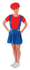 Ladies Red Super Mario Fancy Dress Costume Hen Do Party Womens UK 10-14