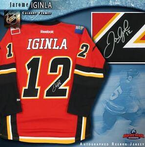 d84191b2ec3 Image is loading JAROME-IGINLA-Signed-Calgary-Flames-Red-Reebok-Jersey-