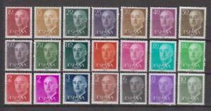 ESPANA-1955-MNH-NUEVO-SIN-FIJASELLOS-SPAIN-EDIFIL-1143-63-FRANCO