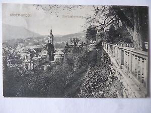 Ansichtskarte-Baden-Baden-Schlossterrasse-1916
