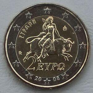 2 Euro Griechenland 2008 Göttin Europa Auf Stier Unz Ebay