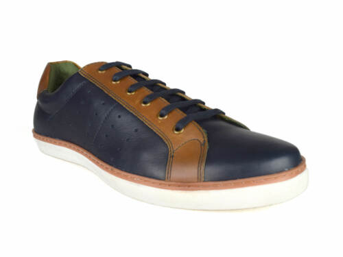 Silver Street London Gower Mens Navy Leather Casual Shoes RRP £50 Free UK P/&P!
