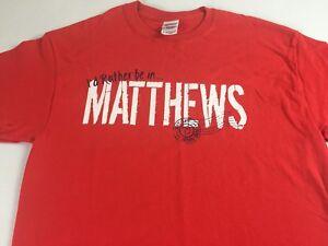 I-039-d-Rather-Be-In-Matthews-T-Shirt-Adult-Medium-North-Carolina-Cotton-Red-NC-Tee