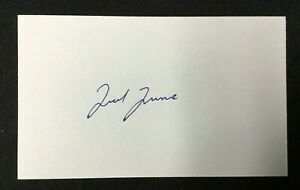 Ted Turner Businessman Signed Index Card Authentic Autograph Auto