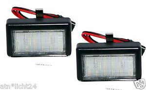 2x-LED-Kennzeichenbeleuchtung-Mercedes-Benz-ML-GL-W164-X164-2x18SMD-Xenon-A591