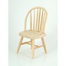 Plain Wood Spindle Back Chair , Dolls House Miniatures, Furniture, 1.12 Scale