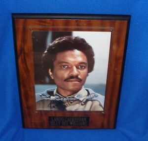 Star Wars Signed Framed Photograph Billy Dee Williams Lando Calrissian with COA