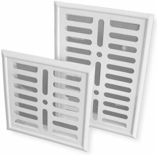 Metal Blanc Air Vent Grille 164 mm x 240 mm Moustiquaire Mur Ventilation Cover P63