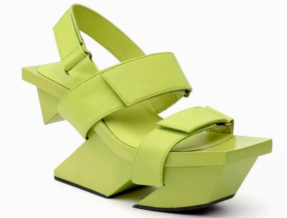 Issey Miyake x United Nude⚡️ Rock lime  neon green yellow strap sandal size 37 7