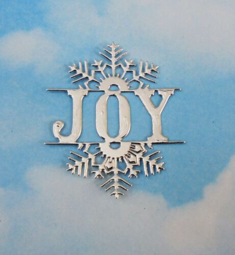 Die Cut   Christmas sentiment toppers x 5 silver foil card making,