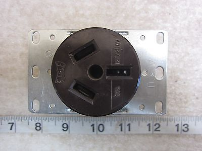 Eagle 50A 125//250V  HBL7940 Style Straight Blade Surface Receptacle 10-50R Used