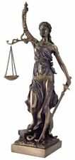 """12.5"""" Lady Justice Statue Greek Goddess Rome Statue Collectible Sculpture Law"""