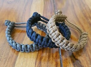 Details about EDC everyday carry Mad Max paracord bracelet - handmade